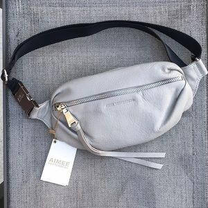 267d2801fe33 Aimee Kestenberg Bum Bag - Elephant Grey NWT